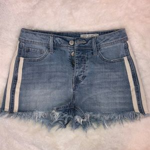 High Rise Side Striped Shorts